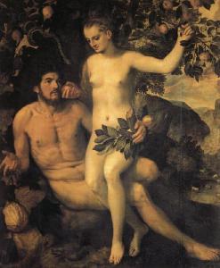 Frans Floris Adam and Eve