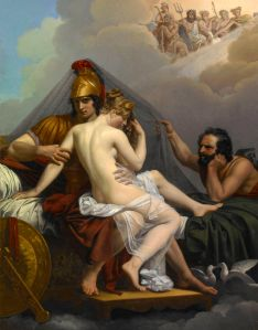 Mars and Venus caught in flagrente delicto by Vulcan Alexandre-Charles Guillemot-1827