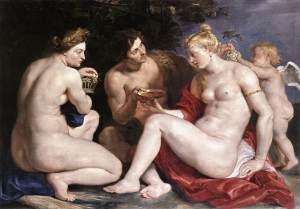 Rubens Venus, Cupid, Bacchus and Ceres (1612-1613)