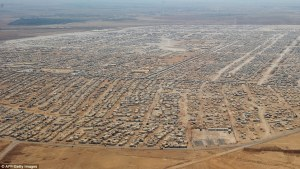The Zaatari refugee camp in Jordan is home for 160,000 refugees