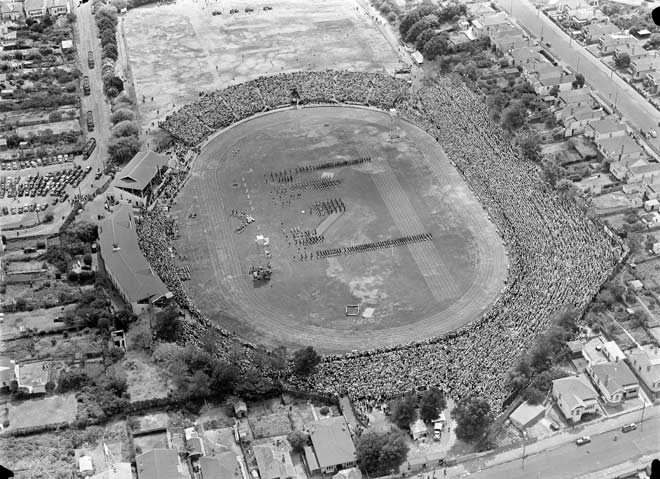 With only two covered stands, it was standing room only at Eden Park for many years