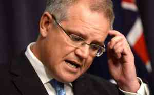 Blathermiester Scott Morrison tries to think up something to say about taxation reform
