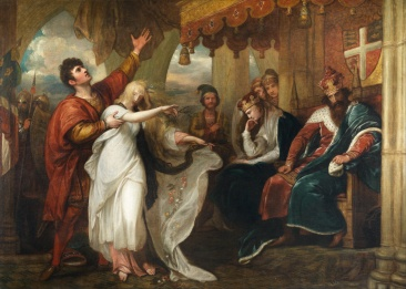 Benjamin_West_-_Hamlet-_Act_IV,_Scene_V_(Ophelia_Before_the_King_and_Queen)_-_Google_Art_Project