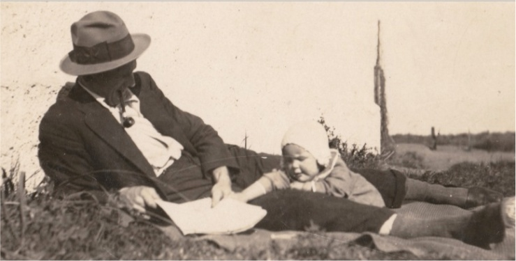 Mum and her dad 1924