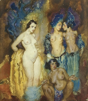 (Four Nudes) By Norman Lindsay ,1937.jpg