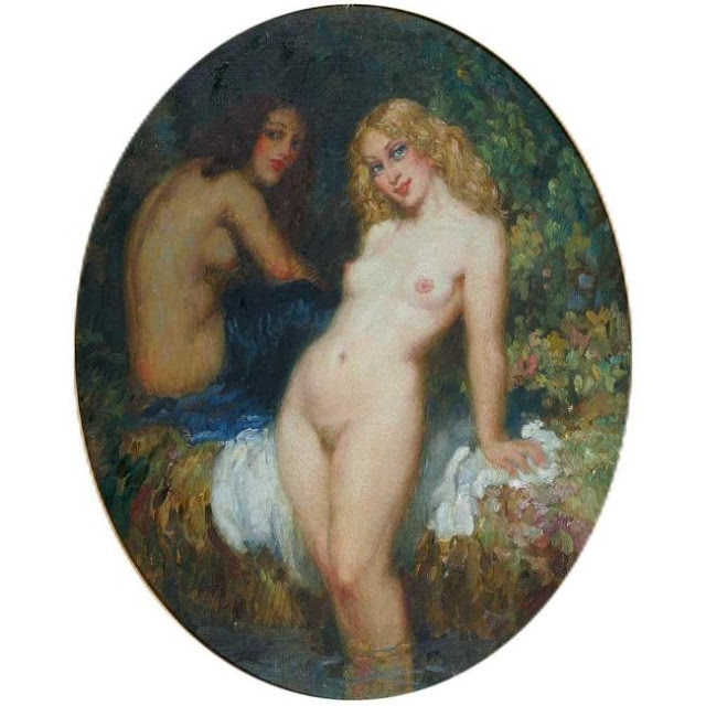 Norman Lindsay - The bathers.jpg