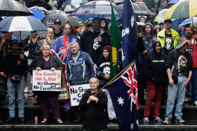 Protesters Rally Against Alleged 'Islamisation' Of Australia