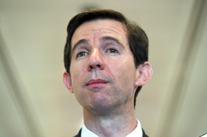Minister for Education Simon Birmingham at a press conference at Parliament House in Canberra on Tuesday, Feb. 9, 2016. (AAP Image/Mick Tsikas) NO ARCHIVING