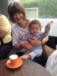 Nan and W Happy coffee with spoon